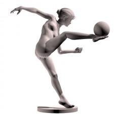 04足球(女)人物 3d模型