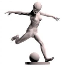 06足球(女)人物 3d模型