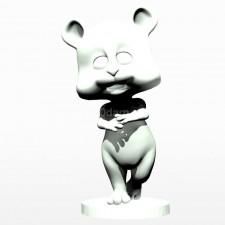 01卡通小熊熊 3d模型