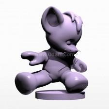 07卡通小熊 3d模型