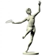 05羽毛球网球(女)人物 3d模型