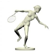 03羽毛球网球(女)人物 3d模型
