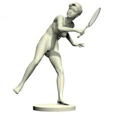 06羽毛球网球(女)人物 3d模型