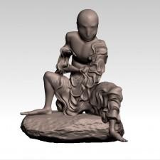 笑狮 十八罗汉 3D建模
