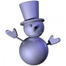 雪人 玩偶卡通00692新