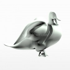 愉快 野鸭子 鸟类 动物 3d模型