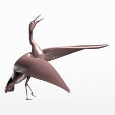 舞动 丹顶鹤 鸟 3d模型