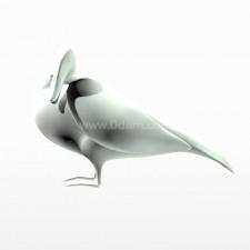 呆立 野鸭子 鸟类 动物 3d模型