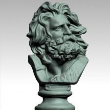 马赛 石膏像 3D扫描模型