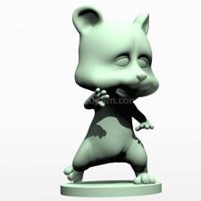 08卡通小熊熊 3d模型 obj文件