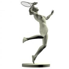 01羽毛球网球(女)人物 3d模型