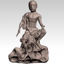 举钵 十八罗汉 3D建模