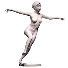 01足球(女)人物 3d模型