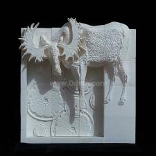 3D打印马鹿浮雕