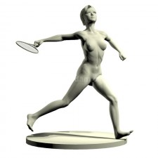 04羽毛球网球(女)人物 3d模型