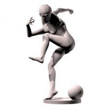 03足球(女)人物 3d模型