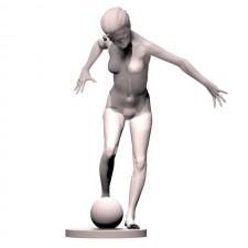 08足球(女)人物 3d模型