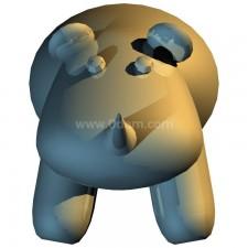 犀牛 玩偶卡通00703新