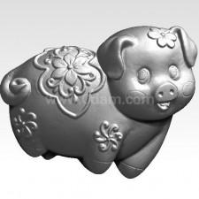 猪 猪事如意  十二生肖 3D模型
