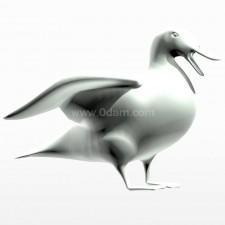 振翅 野鸭子 鸟类 动物 3d模型