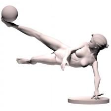 07足球(女)人物 3d模型