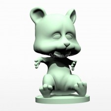 02卡通小熊熊 3d模型
